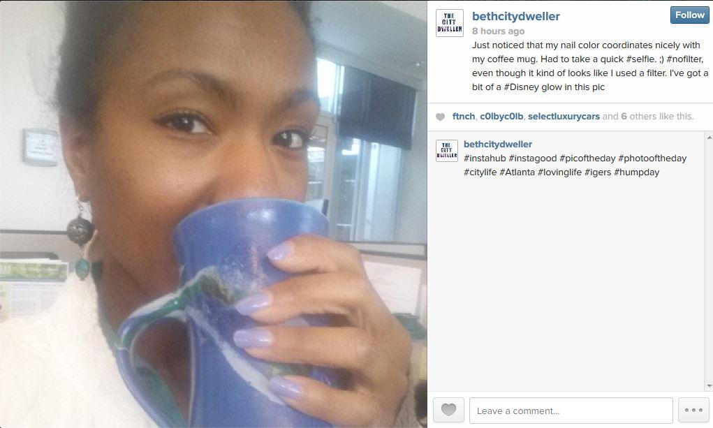 Instagram Beth Clark - April selfie - The City Dweller
