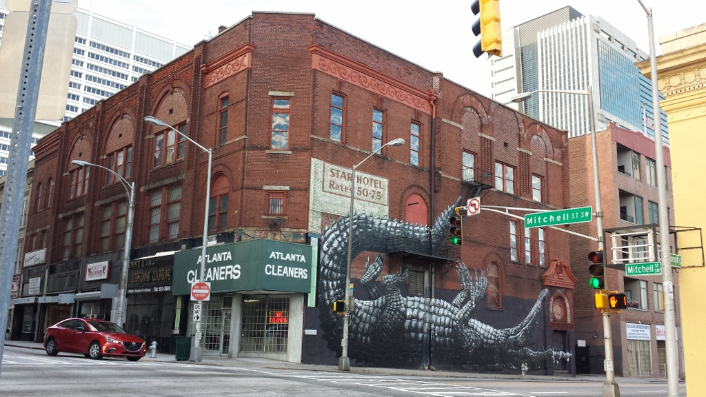 Alligator Street Art - Atlanta -The City Dweller (1)