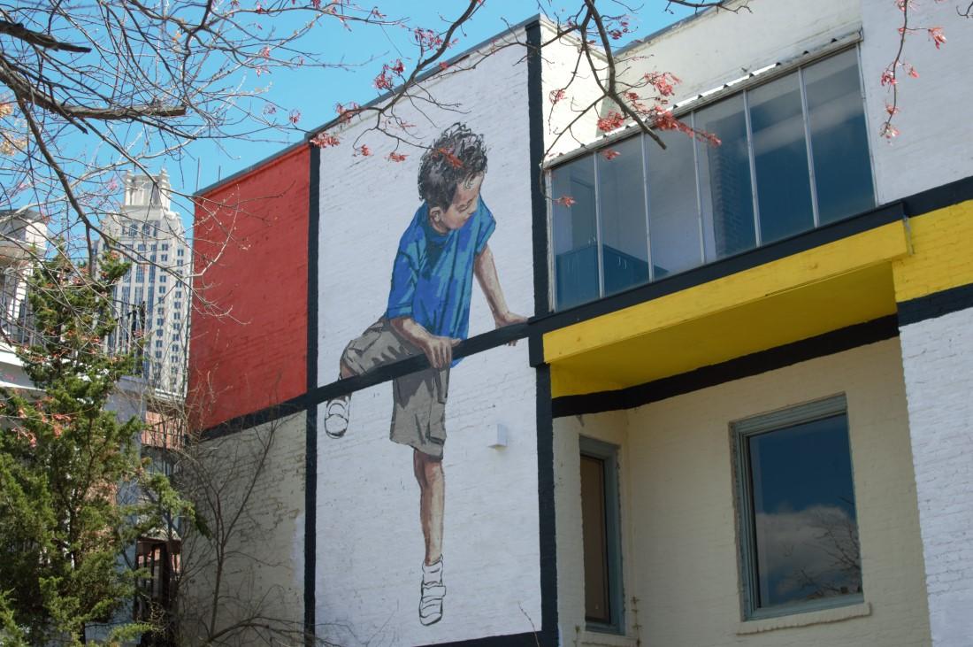 Street art -downtown Atlanta- boys playing - The City Dweller (7)