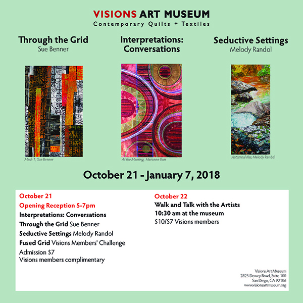 Visions Art Museum  2825 Dewey Road, Suite 100 San Diego, CA 92106  Admission: $7.00 Persons 18 and under admitted free
