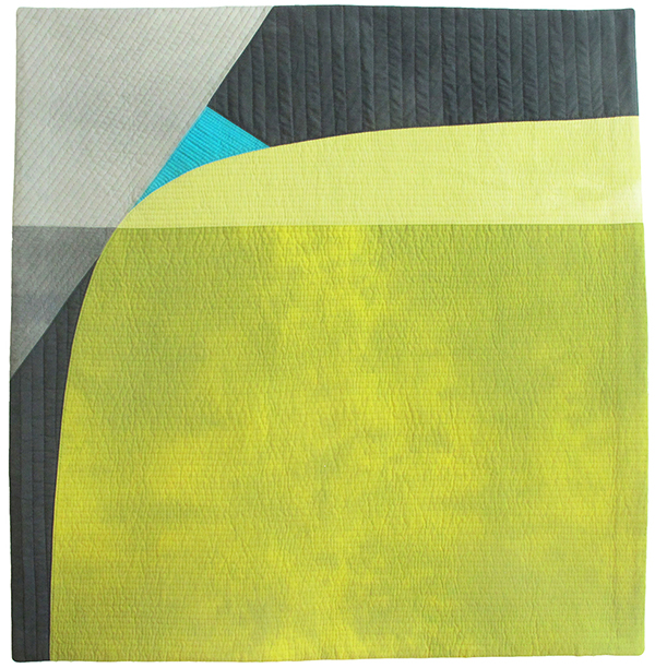Timing , Kathleen Probst, pieced hand-dyed cotton, 35 x 34 inches