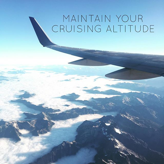 Maintain your cruising altitude. 🙏🏾✈️ #Travel #Flight #Airplane #Views #Photography #Altitude  #TravelGraceMercy #TravelingGraceAndMercy #Quotes #Travelers #PositiveQuotes