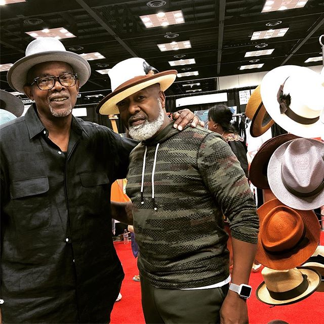 Not sure it can gets any cooler, folks. 😎 Founder/Designer Stephan Morris with the talented Ricky Taylor... one of the🥁🥁 for Frankie Beverly & Maze 👊🏾. #blackexcellence #brotherlylove  @inblackexpoinc #indianapolis #indiana #style