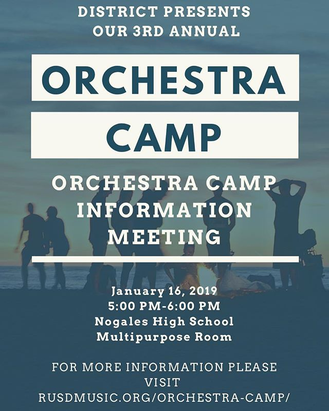 Orchestra Camp Information Meeting 1/16!