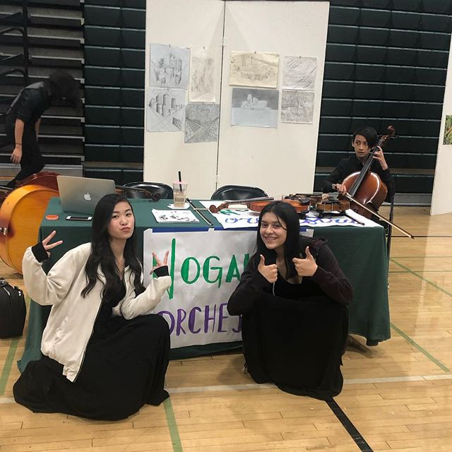 Orchestra booth for parent 101 night 🎻