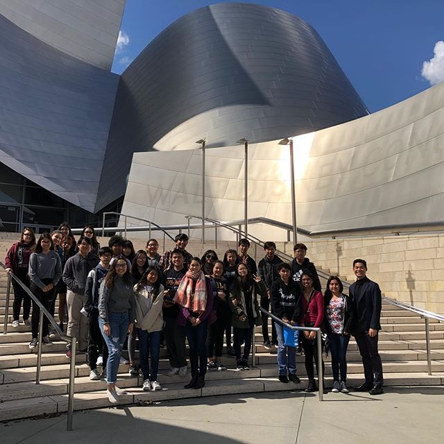 Nogales and Rowland High School Orchestra visiting the Walt Disney Concert Hall!
