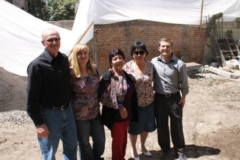 Pictures right to left: Mark Miller, (project lead for construction),Megan Schimmer (40/40 missionary), Amparo (one of the very first members of the church), Esther Santos (the first leader to complete all the discipleship and leadership training), and Pastor Brian Tibbs