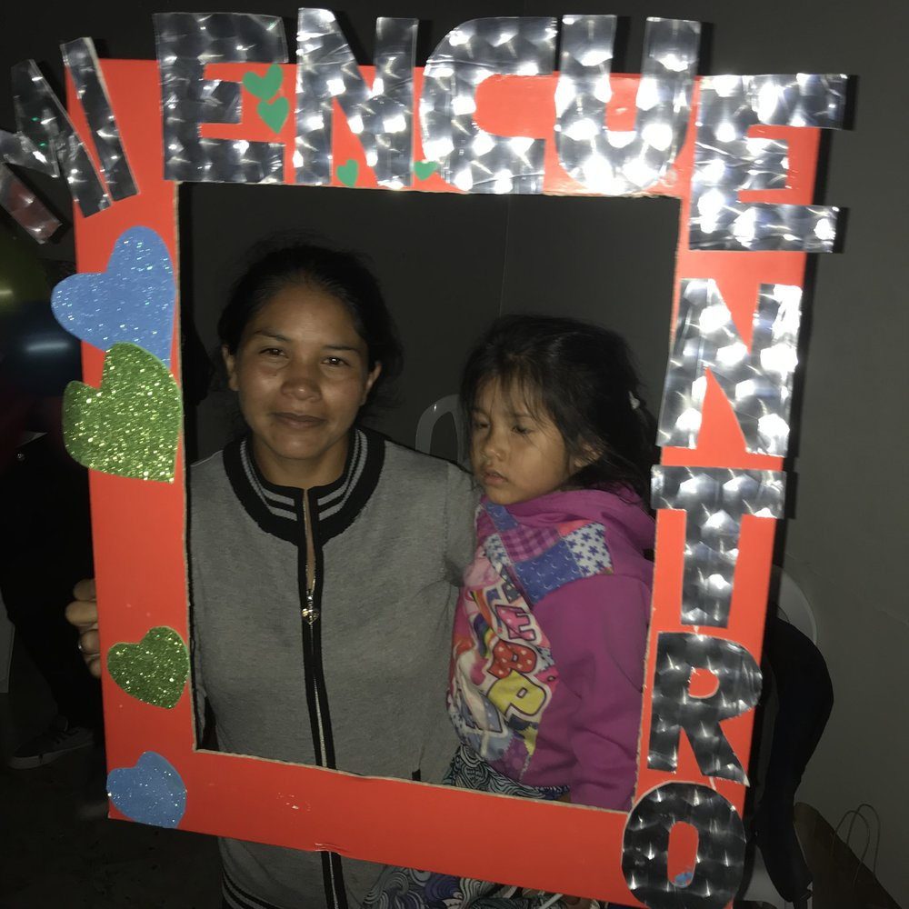 """Adela - Adela, who came from a battered women's shelter, went to the Encounter this month. It's stunning to see how her face lights up as soon as she gets to church! """"I felt so relieved because I came with lots of problems, but now I'm so content and happy and have peace more than anything else."""""""