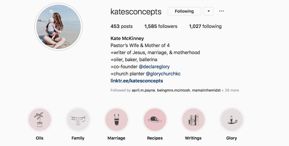Kate McKinney instagram screenshot for time management post.png