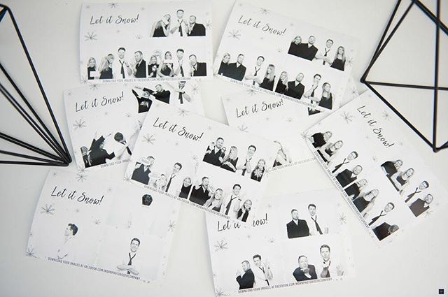 @theherobooth   Are you planning a holiday party? Let us help! This traditional booth is a classic that will leave you and your team with festive portraits for years to come. A simple black and white picture with a snowflake template makes this booth easy to integrate into any holiday party.