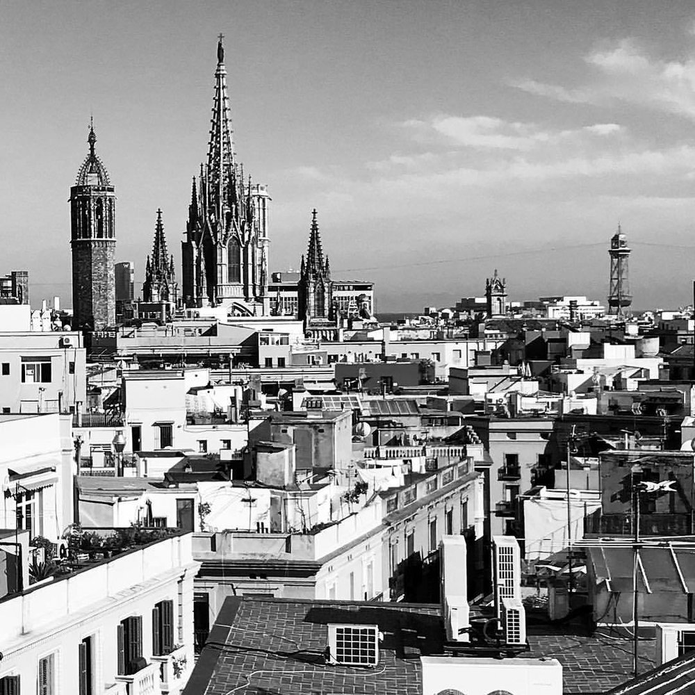 Skyline.  -  #spain #barcelona #cityview  (at Barcelona, Spain)