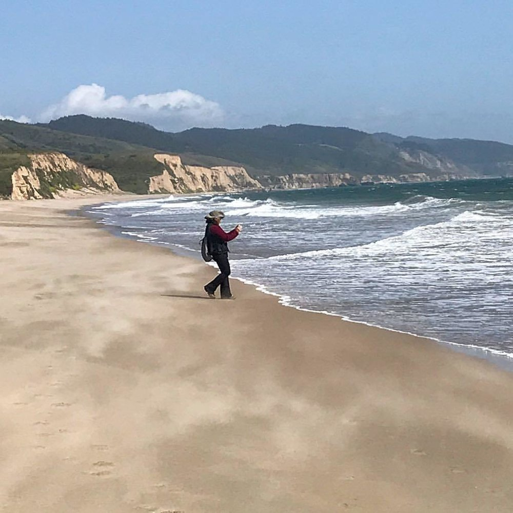 Celebrating life.  -  #california #mayday #mywife  (at Point Reyes National Seashore)