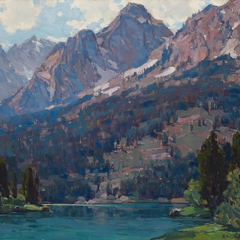 Rugged Peaks, 1930  By Edgar Payne, American (1883-1947)  Oil on canvas  -  #art #painting #americanart #californiapleinair #bonhams