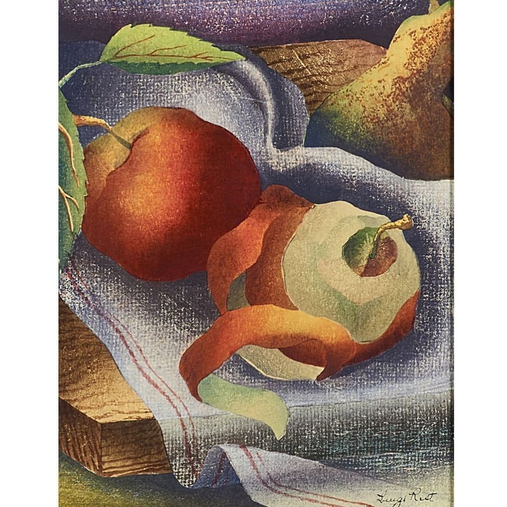 Still Life, 1946  By Luigi Rist, American (1888-1959)  Woodcut in colors  -  #art #americanart #woodcut #rago