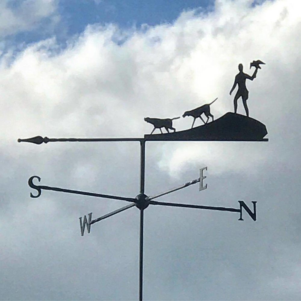 Falconer's weathervane.  -  #unitedkingdom #england #falconry #weathervane  (at Ben Long Falconry, Gloucester)