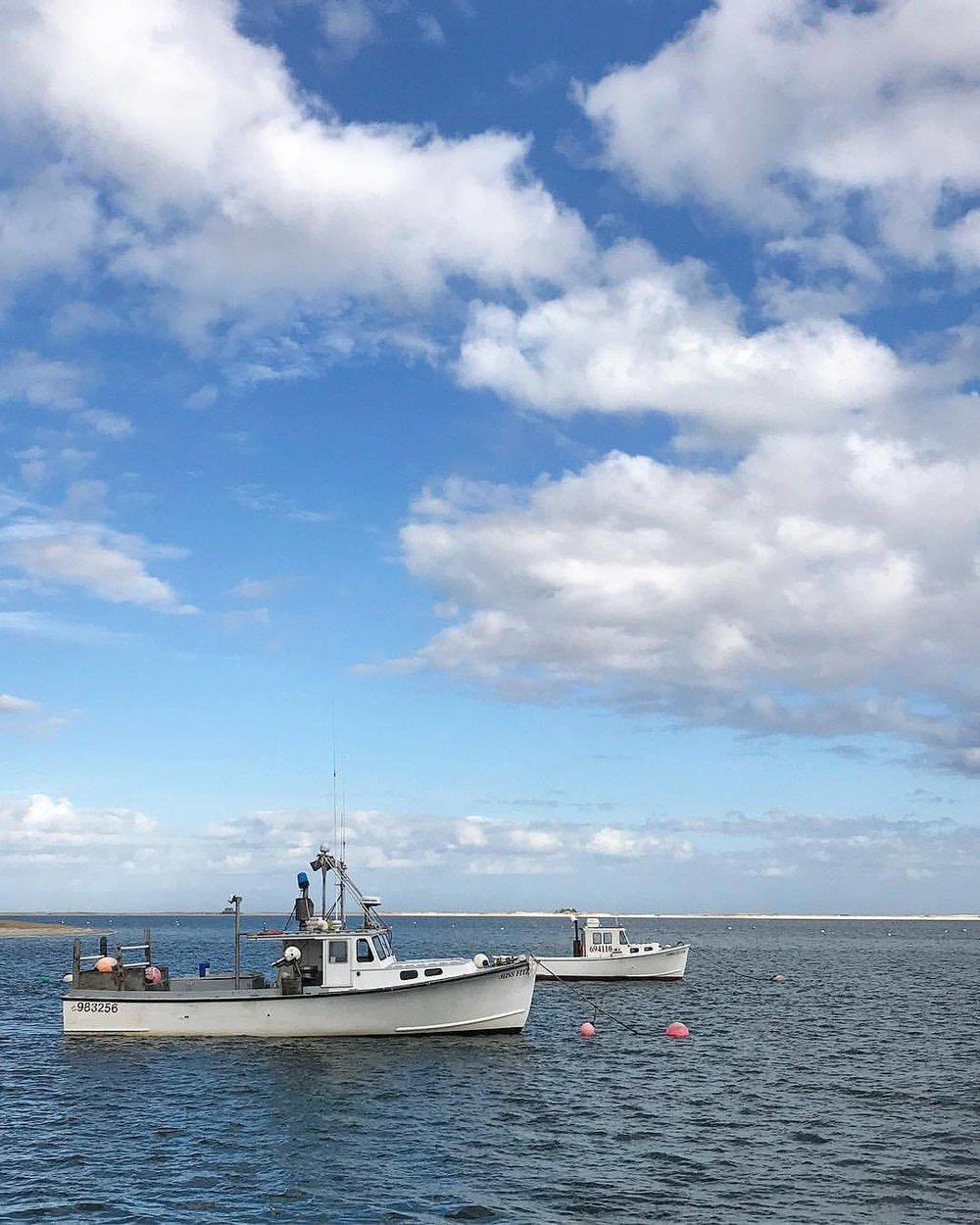 Fishing boats at rest.  -  #massachusetts #capecod #wintermeditation #fishing  (at Chatham, Cape Cod)