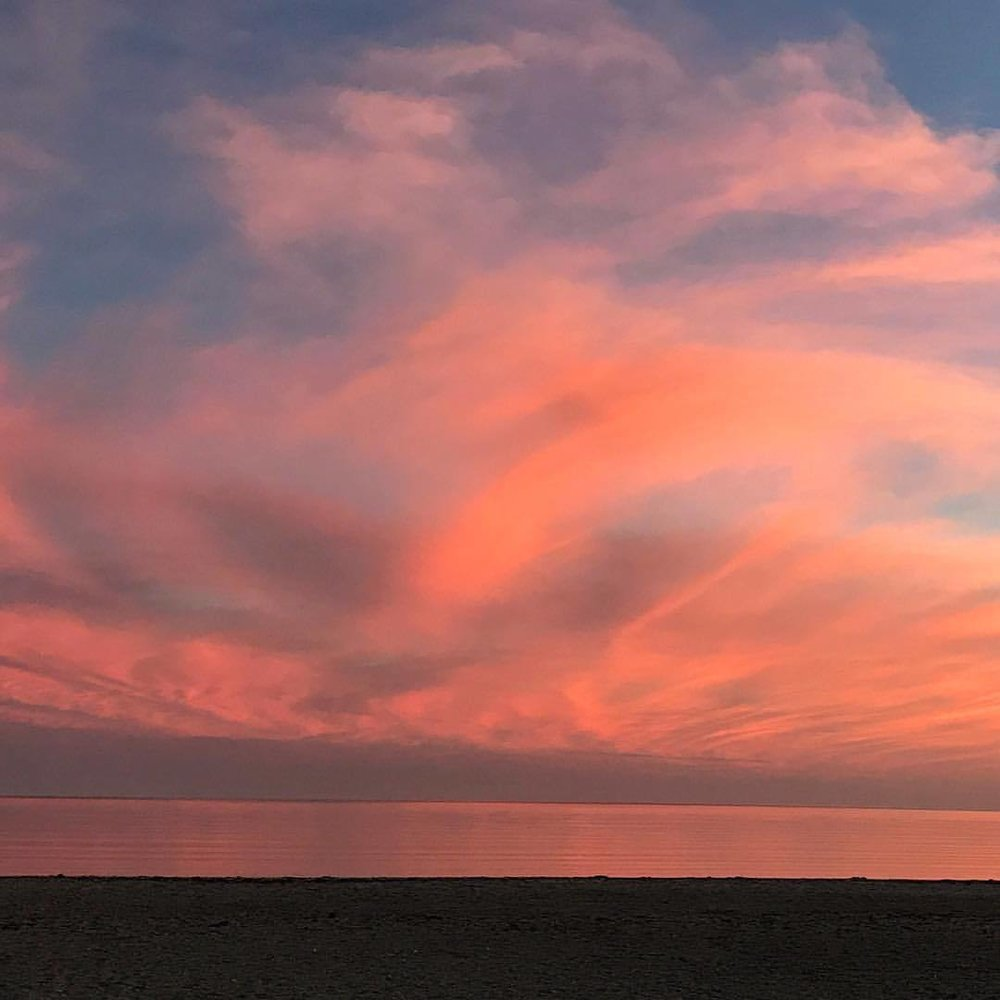 Sunset over Nantucket Sound.  -  #massachusetts #capecod #awaitingtheangels (at Craigville Beach Town of Barnstable)