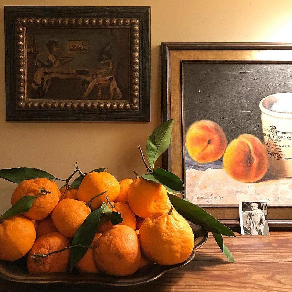 Still life.  -  #winterincalifornia #stilllife #tangerine #citrus  (at Napa, California)