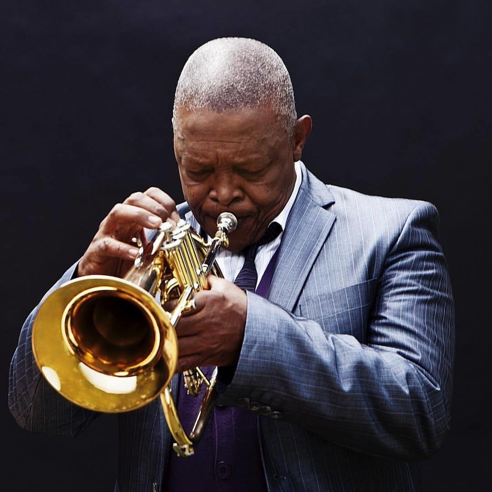 Hugh Masekela moving the party heavenward.  With gratitude for your talents and voice, Bra Hugh.