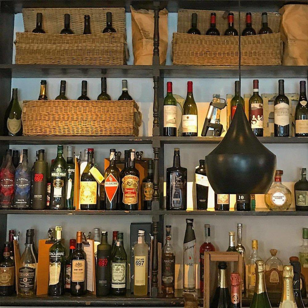 Aperitivi.  -  #italy #aperitivo #vermut #itmustbefiveoclocksomewhere (at Locanda Chiaravalle - Altra Cucina)