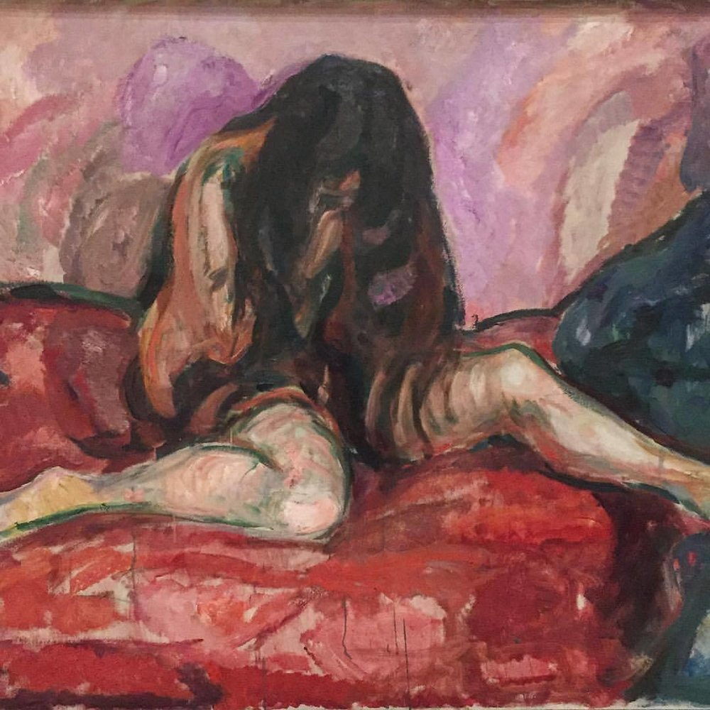Weeping Nude   1913-1914  Edvard Munch (Norwegian 1863-1944) (at SFMOMA San Francisco Museum of Modern Art)