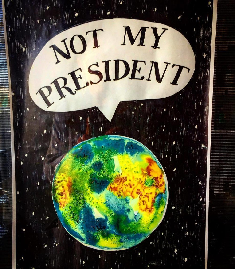 """Planet Earth 🌏 weighs in, inquiring of us """"Wouldn't this be a good moment to have a frank, factual conversation about climate change and your preparedness for the inevitable changes ahead?""""  #sciencetrumpspolitics #noturningback #runmuellerrun (at Oakland, California)"""