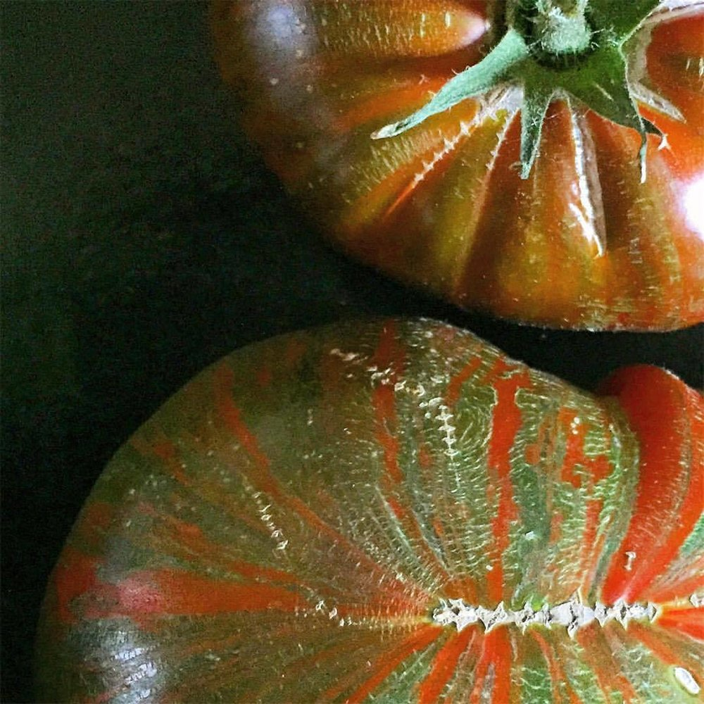 Colors and textures of late summer.  #garden #tomato #summerfood  (at At Home in Napa)