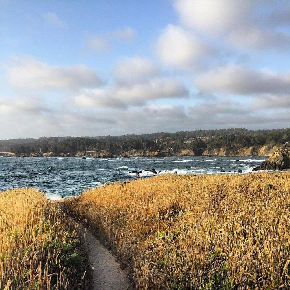 Cliff walk.  #california #mendocino #autumniscoming🍁  (at Mendocino Headlands State Park)