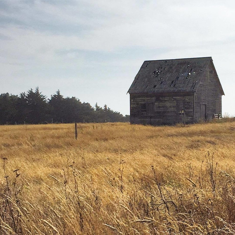 There's a whiff of autumn in the air.  #california #mendocino #barn  (at Mendocino Coast)