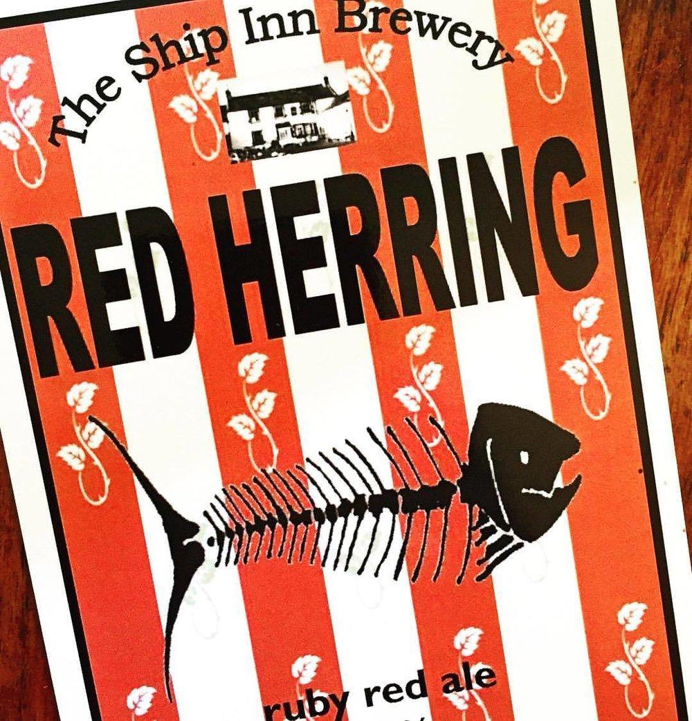 Beer.  #uk #england #beer #brewery #redherring  (at The Ship Inn, Low Newton)