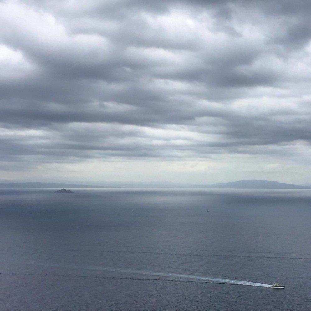 Summer storm blowing by.  #italy #tuscany #tyrhenniansea  (at Italy, Island Elba, Marina Di Campo)