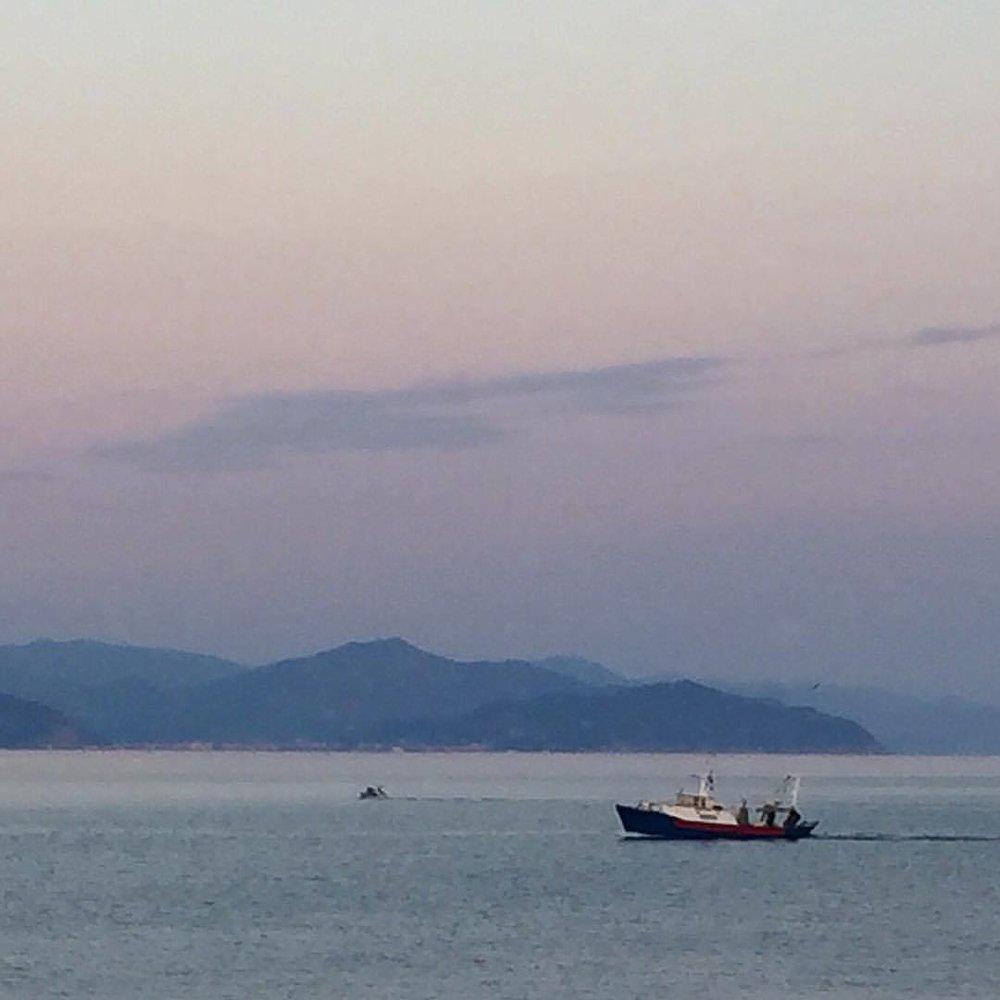 Heading into port.  #italy #liguria #fishing #boat  (at Porto Santa Margherita Ligure)