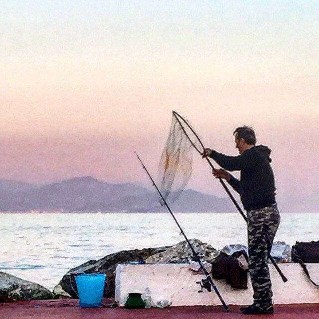 Mis en place.  #italy #liguria #fishing #supper  (at Porto Santa Margherita Ligure)