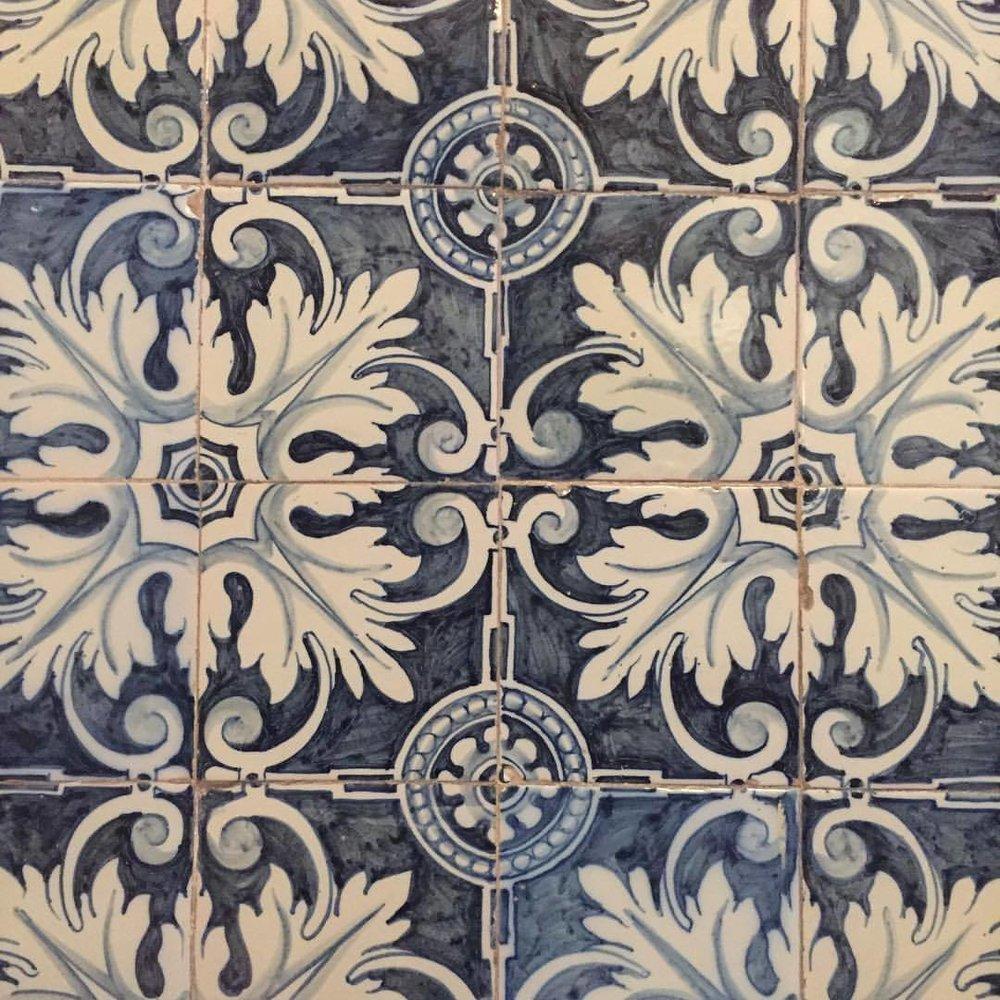 Hand-painted Spanish tiles, 1800s.  #spain #madrid #tiles #ceramics  (at Madrid, Spain)