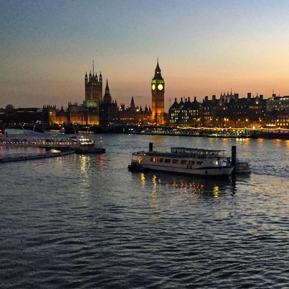 River Thames at dusk. (at London, United Kingdom)