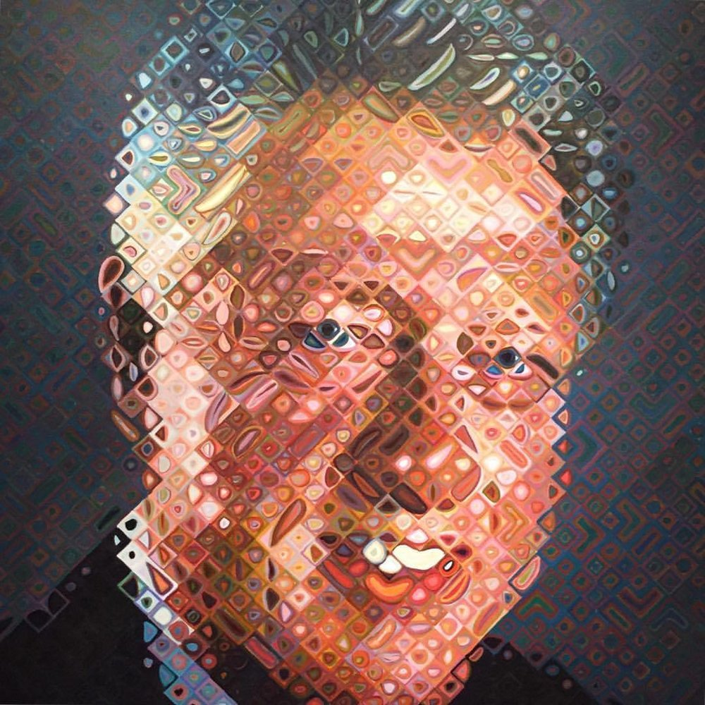President Bill Clinton  by Chuck Close, 2006  #americanart #washingtondc  (at Smithsonian American Art Museum and the Renwick Gallery)