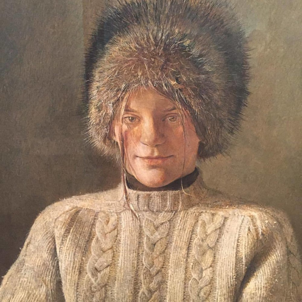 My young friend by Andrew Wyeth, 1970. (at Museo Thyssen-Bornemisza)