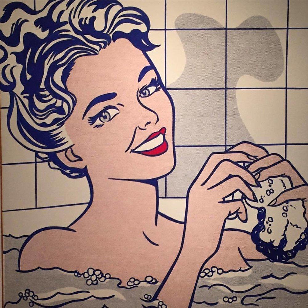 Woman in bath.  Roy Lichtenstein, 1963  #spain #madrid #popart  (at Museo Thyssen-Bornemisza)