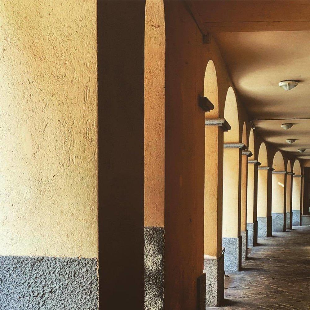 Walkway.  #italy #piedmont #architecture  (at Mondovì, Italia)