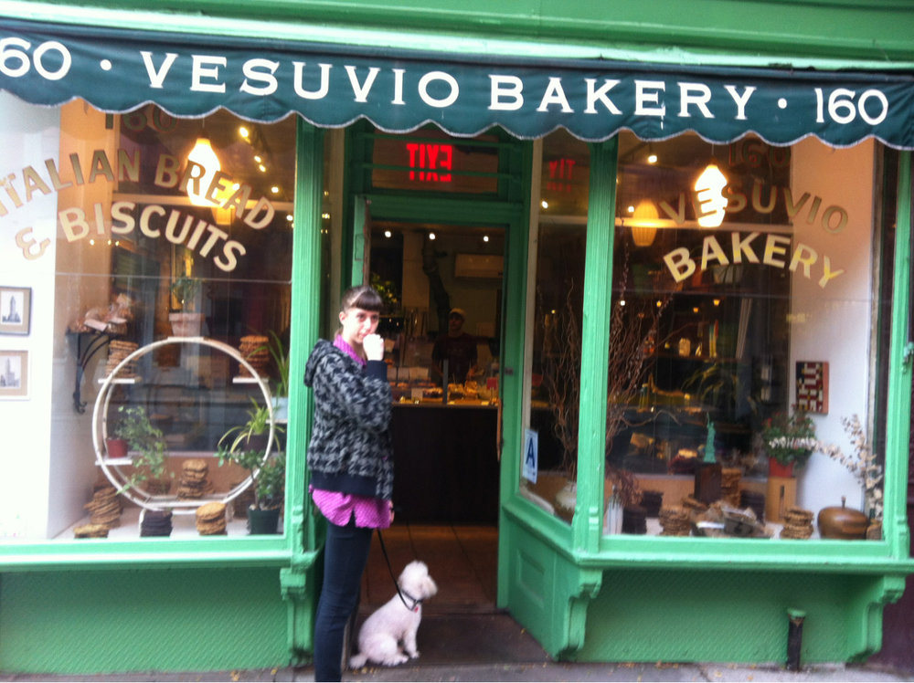 Waiting patiently for biscuits on a rainy Friday morning in NYC's Soho.