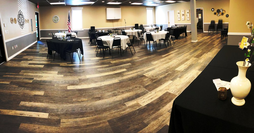 Our event center accommodates up to 96 people.