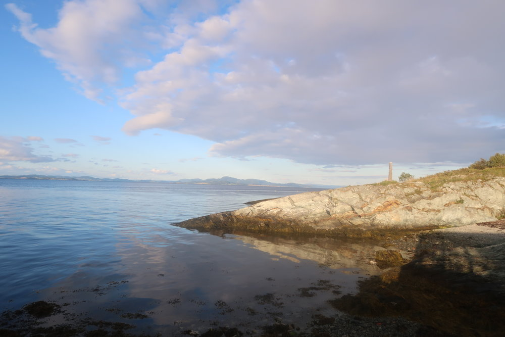 VIEW FROM A HIKE IN TRONDHEIM