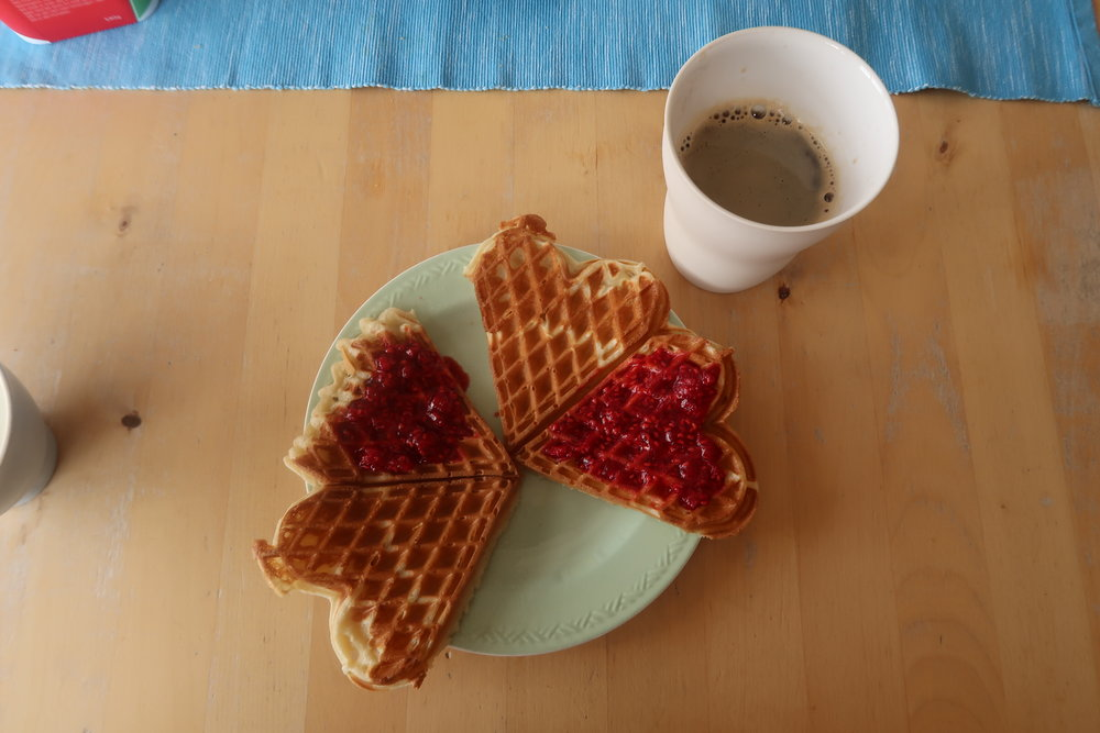 DELICIOUS NORWEGIAN WAFFLES AT MY FRIEND'S HOUSE