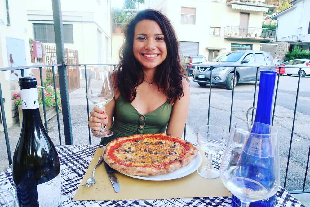 ME EATING THE BEST, AUTHENTIC PIZZA IN A VILLAGE