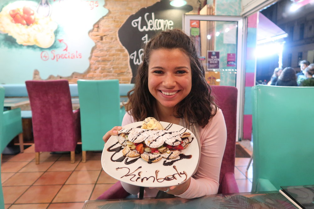 ME EATING SOME PRETTY HIP WAFFLES (AGAIN) WITH MY NAME ON IT
