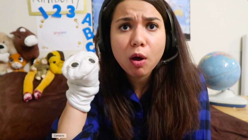 ME with a sock puppet i made in thirty seconds. my kiddos have really loved this so far!