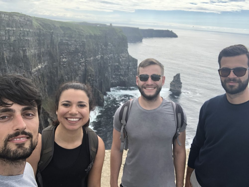 FRIENDS I MADE AT THE CLIFFS OF MOHER IN IRELAND