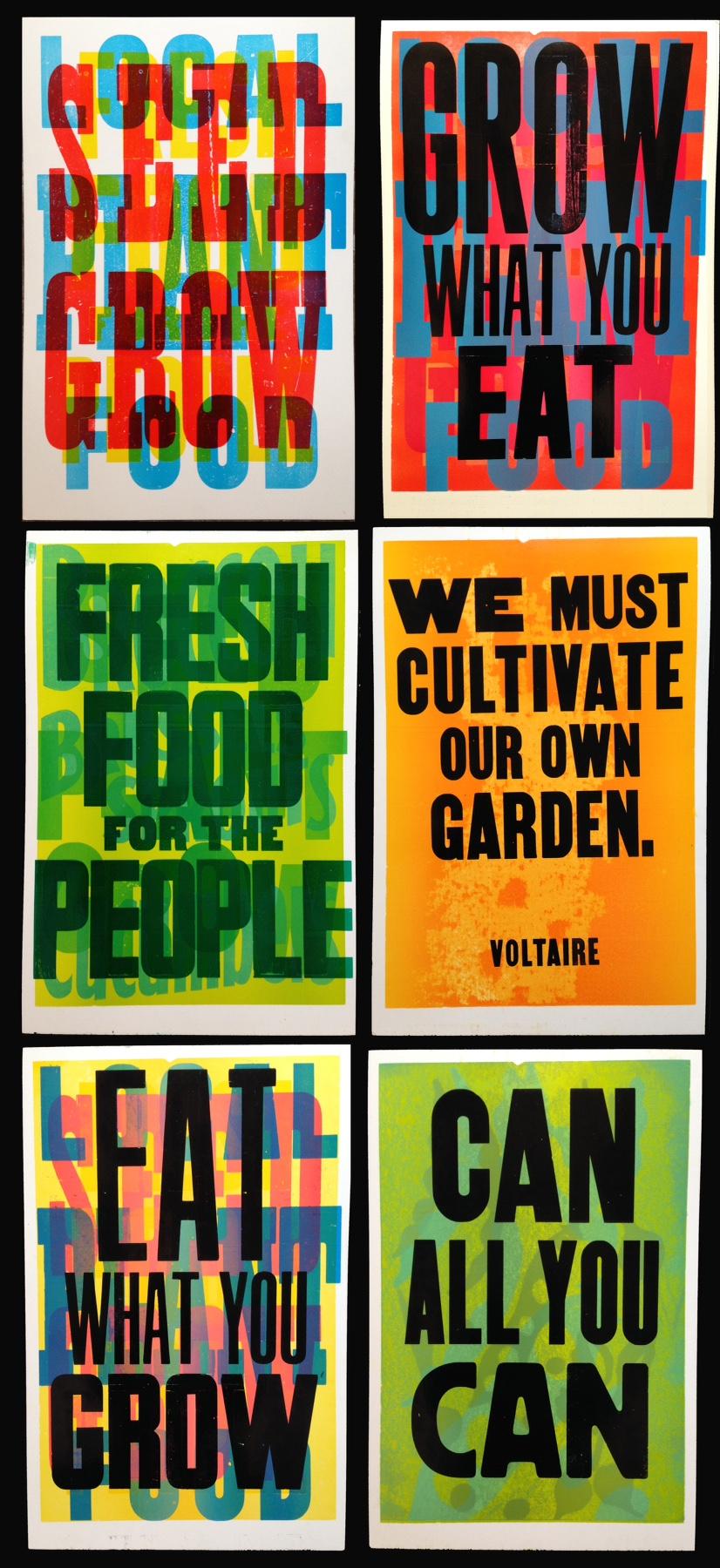 food justice series prints