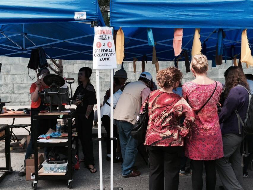 street printing - roadworks festival