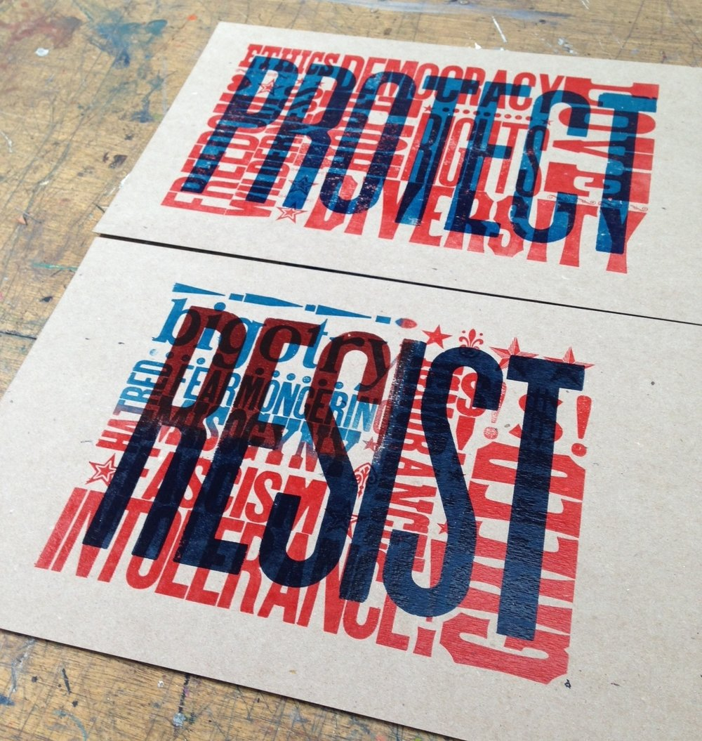 resist, protect posters